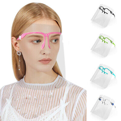 Full Face Shield Visor Glasses Guard Protection Covering Clear Anti Fog Mask