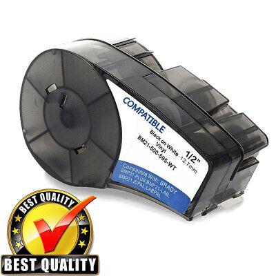 Label Tape Cartridge M21-500-595-wt Compatible For Brady Bmp21-plus White 12