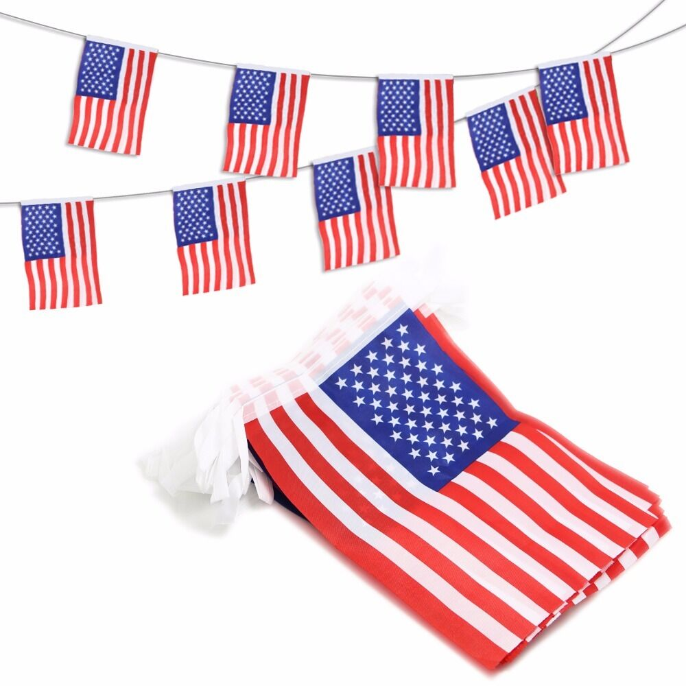 ANLEY USA American String Banners  Decoration Patriotic Even