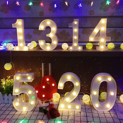(Number Digital LED Night Light Marquee Sign Alphabet Lamp Birthday Party 2019)