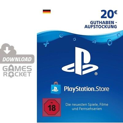20€ PSN DE Playstation Network Code Card 20 Euro € EUR PS4 PS3 Vita Guthaben 50