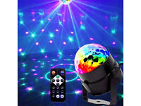 Multi Colour Moving Mirror Ball Bright LED Effect Lighting Dj Band Pattern Party Sensory Disco Light
