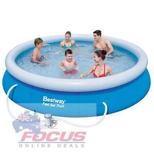 Bestway Inflatable Swimming Pool Set Blue Melbourne CBD Melbourne City Preview