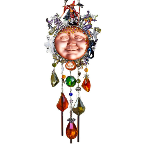 3Kirks Folly WITCHES COVEN Goddess Seaview Moon Wind Chime silvertone