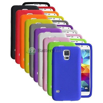 LOT Silicone Soft Slim Rubber Protector Case Cover for Samsung Galaxy S5 GS5 ()