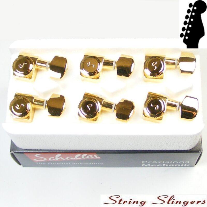 Schaller Original F-Series Rear Locking tuners, 6inline Gold, 10560520.01.50