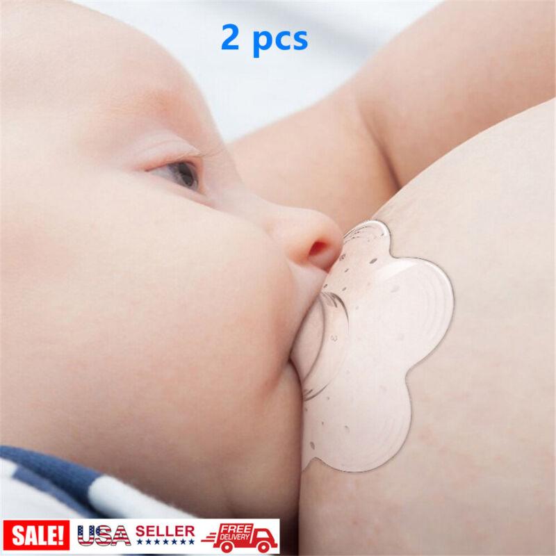 2X Nipple Shield Maternity Silicone Protector Breastfeeding Nipple Protect Cover