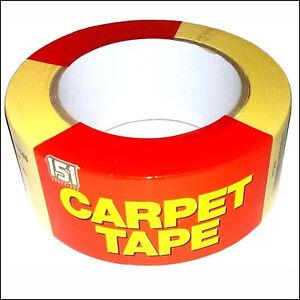 CARPET TAPE VINYL FLOORING CORK TILE RUG STICK TAPE DOUBLE SIDED 48MM X 25M