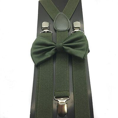 Camo Green Unisex Bow Tie & Suspender Tuxedo Wedding Party Apparel Accessories - Camo Bow Tie