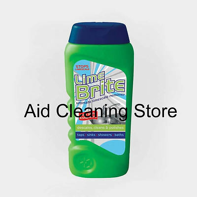 THE BEST LIME BRITE ULTIMATE FOR LIMESCALE SCALE REMOVER Taps Sinks Showers