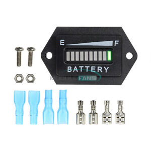 Battery Status Charge Indicator Monitor Meter Gauge LED Digital 12V & 24V