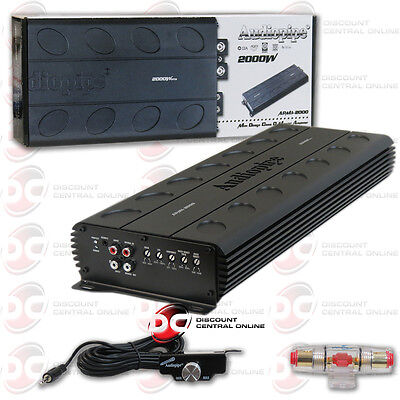 AUDIOPIPE APMI-2000 1-CHANNEL MONO BLOCK CAR AUDIO AMP AMPLIFIER 1944W RMS