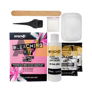 Crazy Color Bleaching Kit Colour Pre-Lightens Hair Before Any Hair Tint