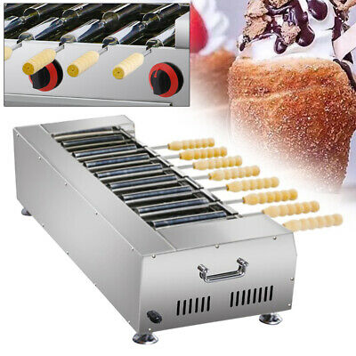 Household Lpg Gas Stainless Chimney Cake Oven Roll Grill 8pcs Roller Machine
