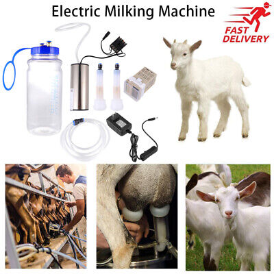 2l Portable Electric Milking Machine Powered Vacuum Pump For Sheep Goat Cow