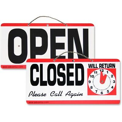 Advantus Openclosed Sign With Clock
