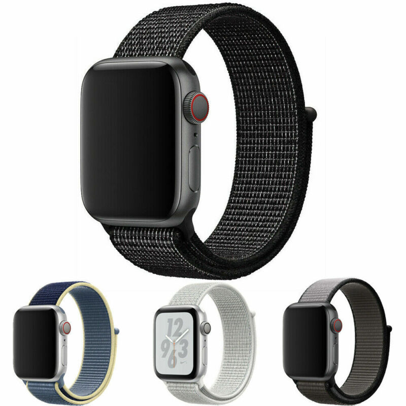 For Apple Watch Woven Nylon Sport Loop Band Strap iWatch Series SE 6 5 4 3 2 1