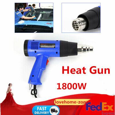 1800w Heat Gun Hot Air Wind Blower Adjust Temperature Nozzle Power Heater New