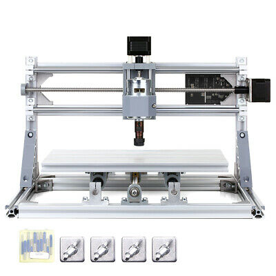 3018 Cnc Machine Router 3axis Engraving Pcb Wood Carving Diy Milling Kit E9x2