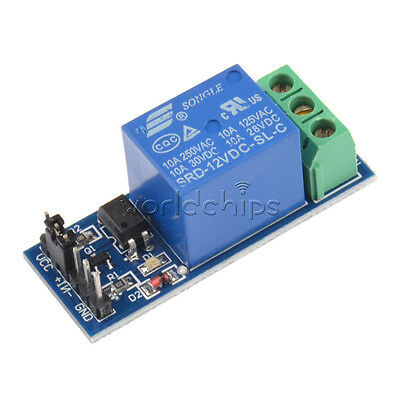 New 12v One 1 Channel Relay Module With Optocoupler For Pic Avr Dsp Arm Arduino