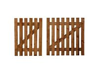 "Wooden Picket Fence Gate Including Latch & Hinge ; 2 Treated Fence Posts 3"" x 3"""