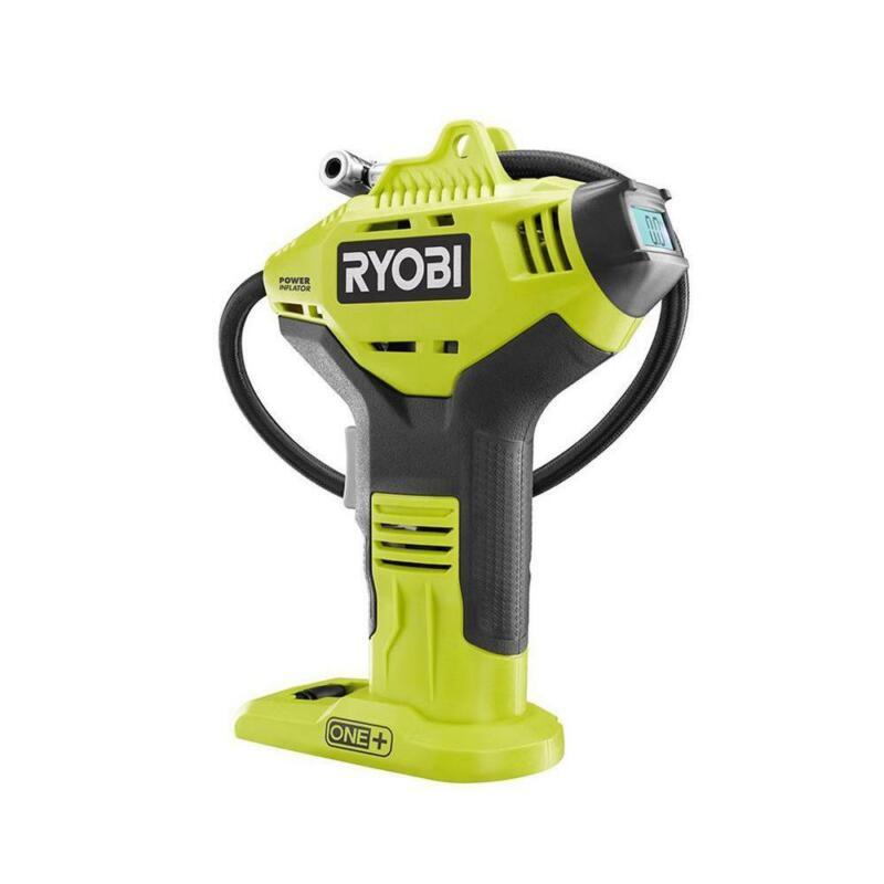 RYOBI Air Compressor High Pressure Inflator Car Tire Digital Gauge Cordless Tool