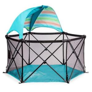 NEW Summer Infant Pop 'N Play Ultimate Playard, Aqua Condition: New