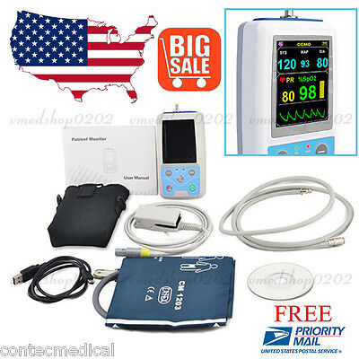 Fda Ce Pm50 Portable Patient Monitor Vital Signs Nibp Spo2 Pulse Rate Meterusa