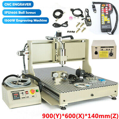 Cnc 6090 4axis Usb Router Milling Engraving 3d Diy 24x36 Cutting Machine 1.5kw
