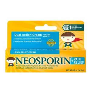 2 X NEOSPORIN First Aid Antibiotic Pain Relief Cream for Kids 0 5 Oz T1
