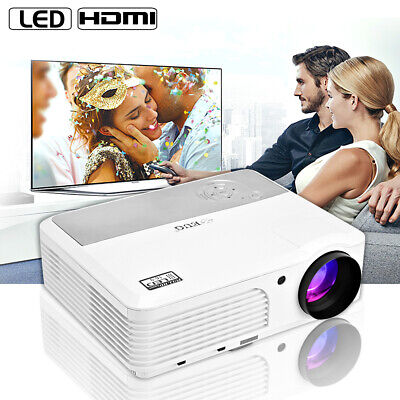 5000lm LED Projector Full HD 1080p Video Home Theater HDMI Bundle 100'' Screen