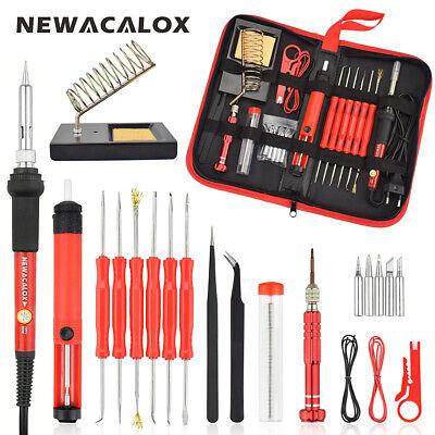 Electric Soldering Iron Gun Adjustable Temperature Welding Tool Set 60w 110220v