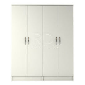 Beatrice 4 door wardrobe white finish