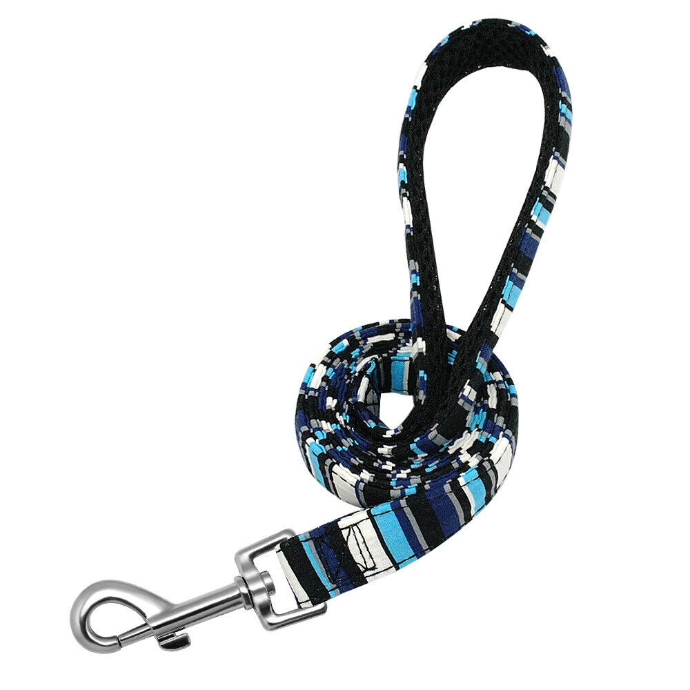 4ft Camouflage Stripes Dog Leash with Mesh Padded Handle Pet Cat Walking Lead