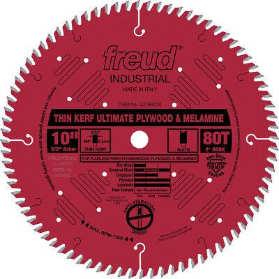 Freud LU79R010 10 in. 80T Thin Kerf Ultimate Plywood & Melamine Saw Blade New (Melamine Saw Blade)