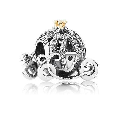 Pandora Charm Disney Cinderella ´s Kürbis Kutsche 791573CZ 14K 925 Silber  /17
