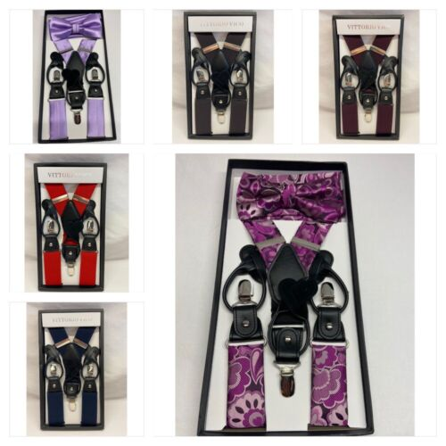 Suspender And Bow Tie And Hanky Set And Just Suspenders For Adults Men Teens
