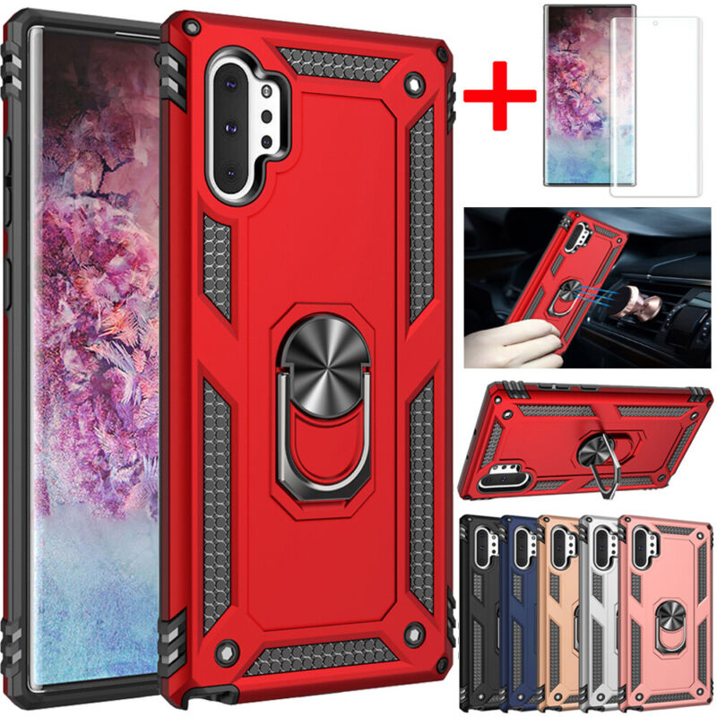For Samsung Galaxy Note 10 9 S10 Plus Shockproof Armor Ring