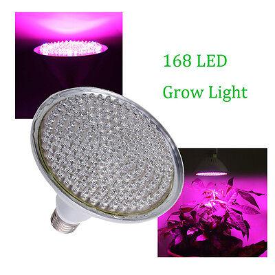 E27 168 LED Hydroponic Plant Flower Grow Light Lamp PAR38 Full Spectrum