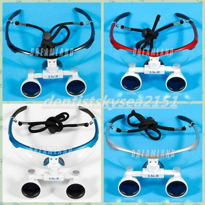 Dental Flexible Loupes Glasses Surgical Magnifier 3.5x420mm Binocular A-list