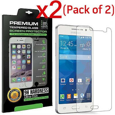 2-PACK Tempered Glass Screen Protector Film for Samsung Galaxy Grand Prime G530