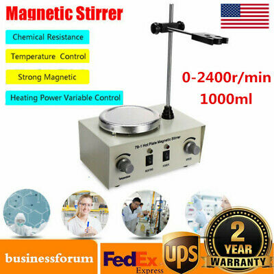 Hot Plate Magnetic 79-1 Stirrer Mixer Stirring Lab 1000ml Dual Control Usa Stock