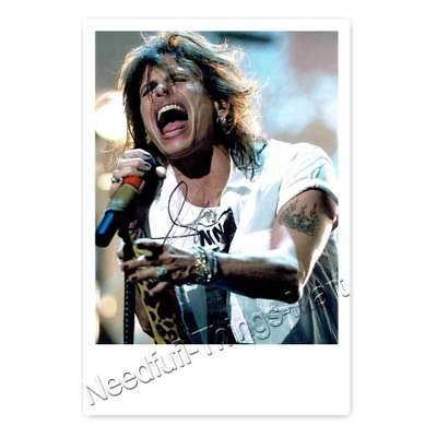 Steven Tyler  - Aerosmith - Autogrammfotokarte laminiert [AK2]