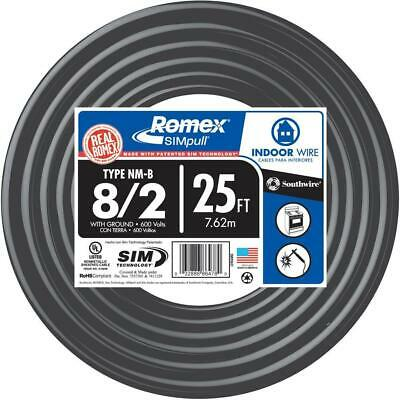 Southwire 25 Ft. 82 Stranded Romex Simpull Cu Nm-b Wg Wire
