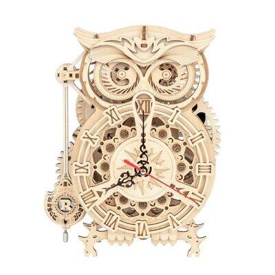 """ROKR 3D-Holz-Puzzle Uhr """"Owl Clock"""" Modellbausatz"""