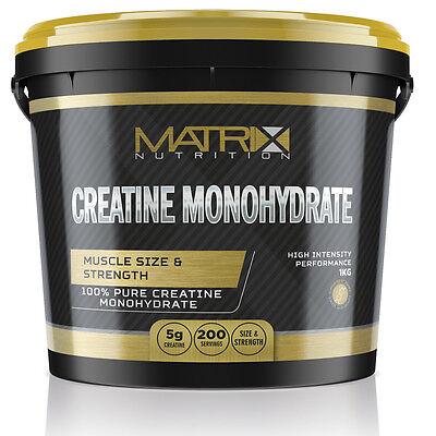 Hardcore Creatin Powder (PURE HARDCORE CREATINE MONOHYDRATE POWDER 1KG - MATRIX NUTRITION - UNFLAVOURED)