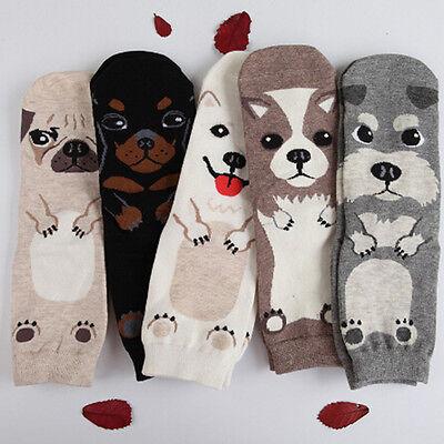 Beliebte Frauen Hunde Socken Niedlichen Cartoon Baumwolle Druckrohr Boden Meias