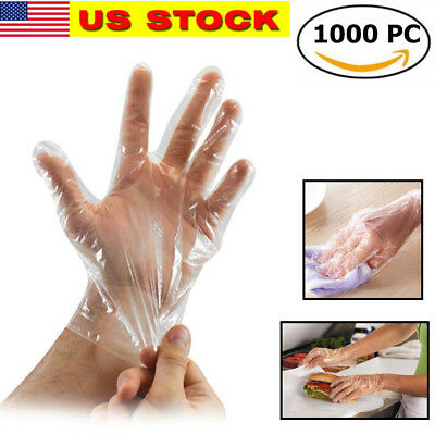 1000 Pcs Large Plastic Disposable Gloves for Kitchen Cooking Cleaning
