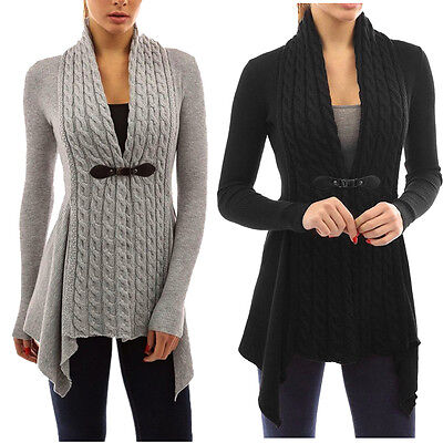 Winter Women V-Neck Sweater Casual Knitted Cardigan Long Sleeve Outwear Tops