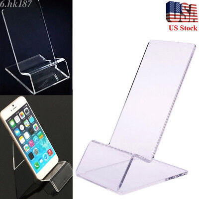 - 20/10pcs Lot General Clear Acrylic Mount Holder Display Stand For Cell Phone US
